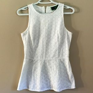 C.Wonder white peplum